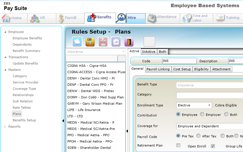 Benefits Administration Employee Based Systems